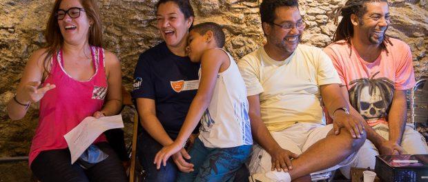 Participantes da Oficina na integração - foto por Diogo de la Vega