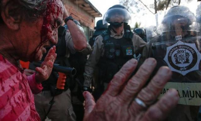 Sr. Brasil, morador de mais de 20 anos, atingido no conflito. Foto: http://bit.ly/2q1Jofe