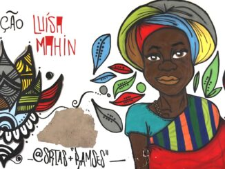 Mural feita por artistas apoiadores.