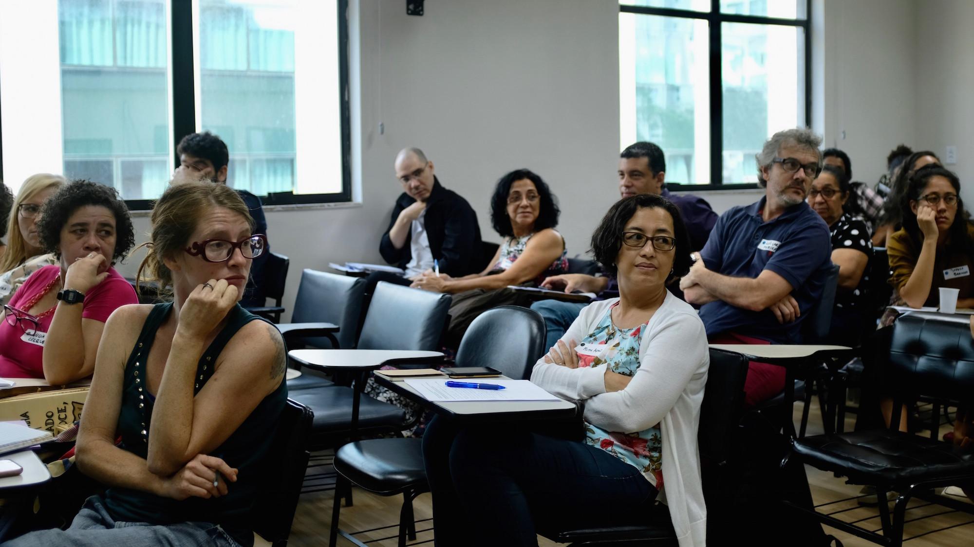 Público compartilha perguntas técnicas na Oficina Legislativa do TTC. Foto por Line Algoed
