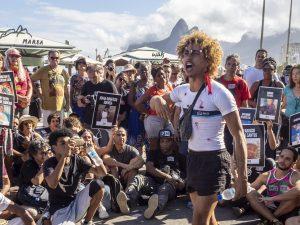 Performance do Bando Cultural Favelados da Rocinha no Ato Parem de Nos Matar. Foto: Daiana Contini