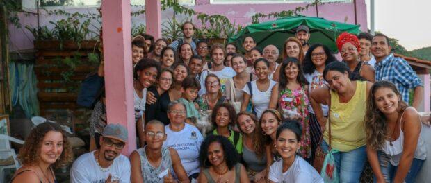 Participantes do encontro que chagaram até o final do dia. Foto: Luiza de Andrade