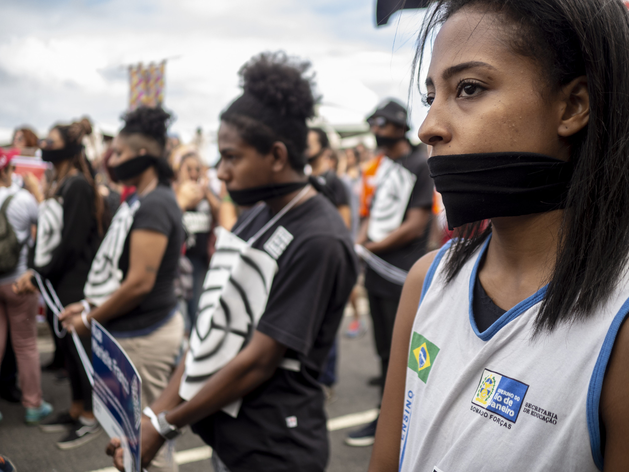 Perfomance do Levante da Juventude. Foto: Daiana Contini