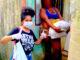 Moanan Couto (20) e Ingrid Botelho (21) grávida de 7 meses e mãe sola de duas crianças. Foto: Moana Couto e Rayane Marques