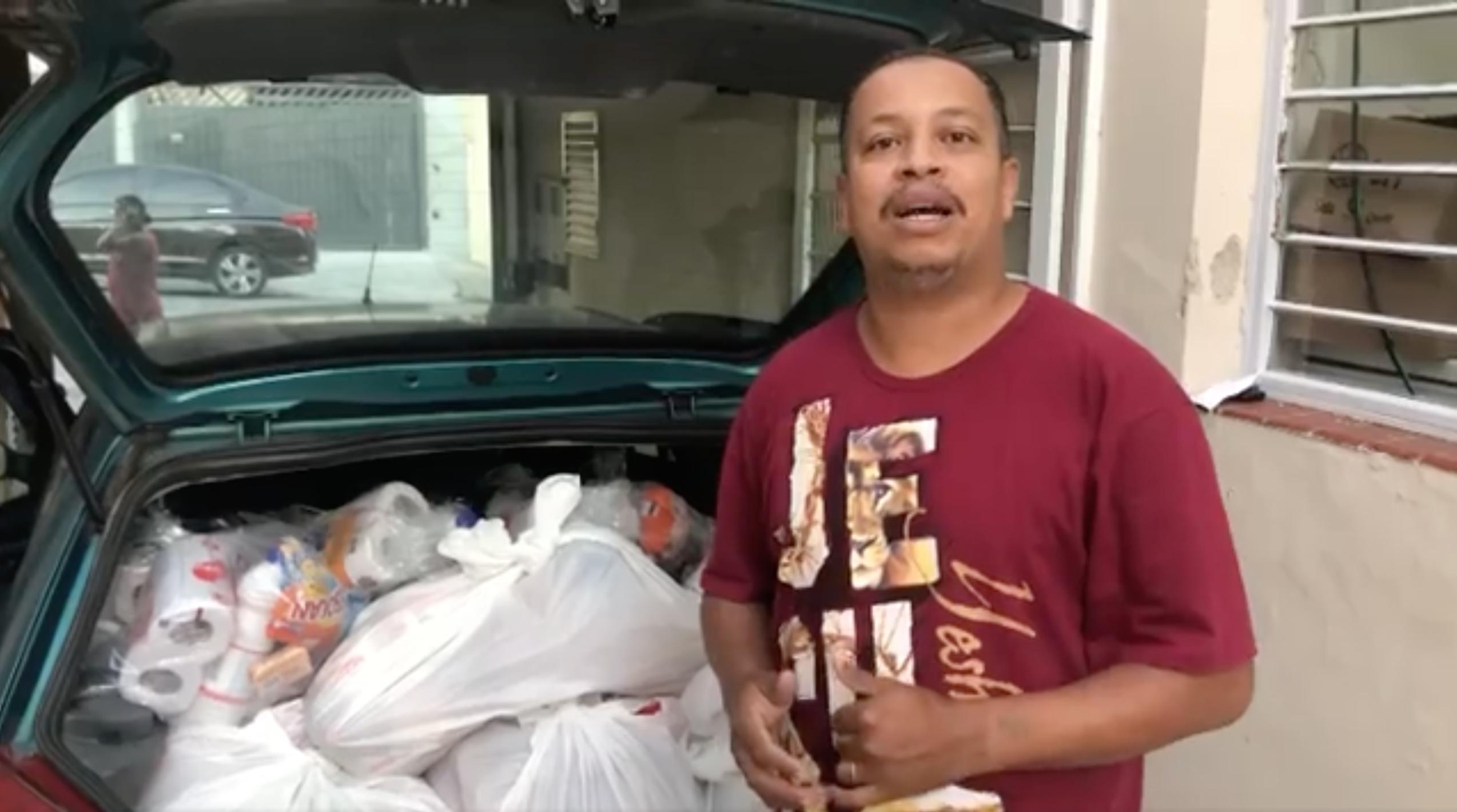 Cestas básicas a serem distribuídas pelo Jaguaré Solidário