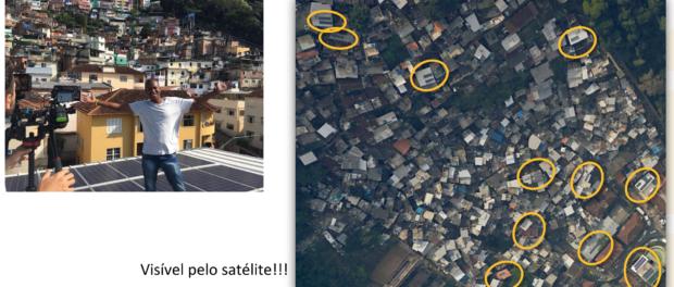 Energia solar no Santa Marta instalado pela Insolar é visível por satélite