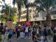Protesto Vidas Negras Importam caminham pela rua Paissandu