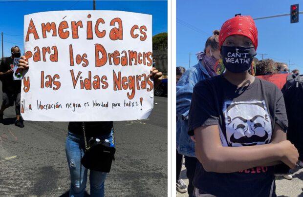 Jovens protestam em Oakland, Califórnia #BLM