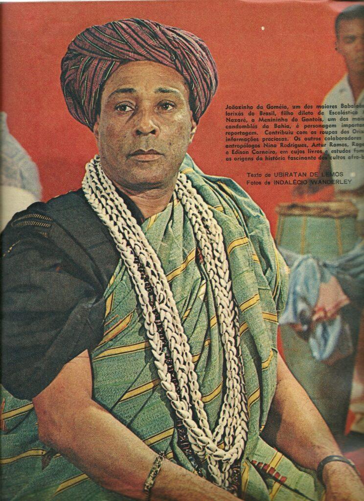 Pai João da Gomeia na capa da Revista O Cruzeiro, em 1967. Foto por: O Cruzeiro.