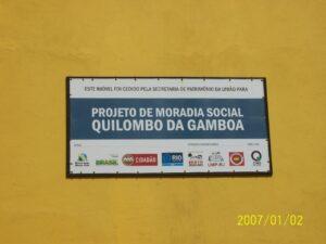 Projeto de moradia social Quilombo da Gamboa. Foto tirada da página do Facebook do Quilombo da Gamboa.