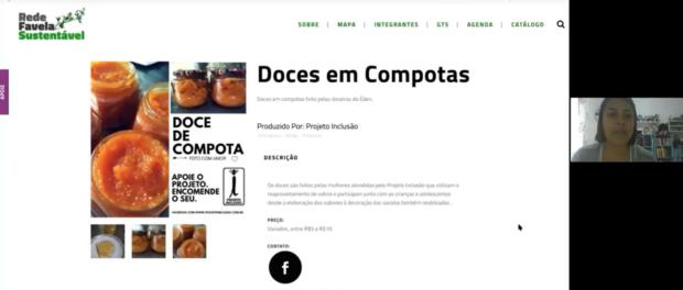 Élida Nascimento e os doces de compota que uniram sua comunidade na geração de renda e na valorização de suas mulheres mais velhas, divulgados pelo Catálogo Rede Favela Sustentável.