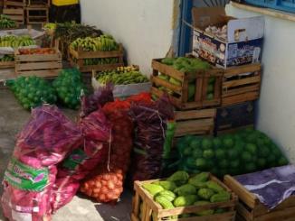Projeto Inclusão, Élida do Nascimento em São João de Meriti, destribuindo alimentos frescos.