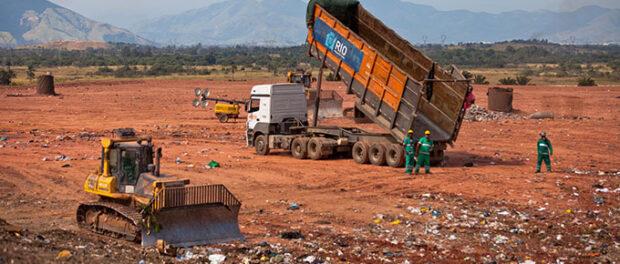 Aterro sanitário de Seropédica. Foto por: Luiz Calderini
