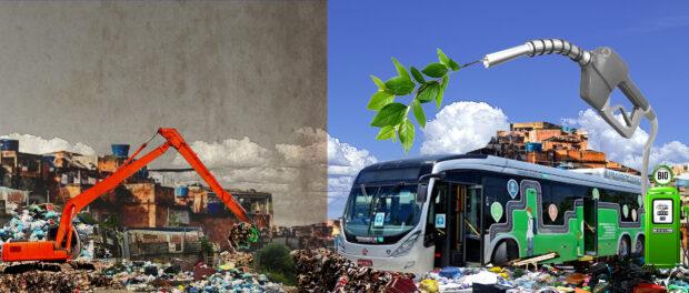 Lixo é Ouro nas favelas. Ilustração por: David Amen
