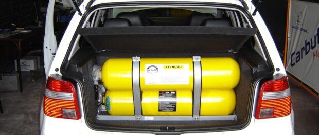 GNV usado como combustível.