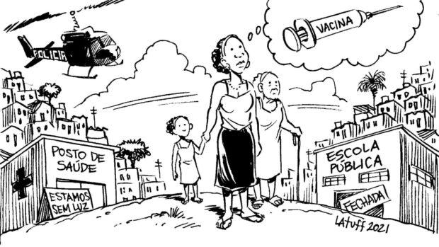 Charge solidária por Carlos Latuff