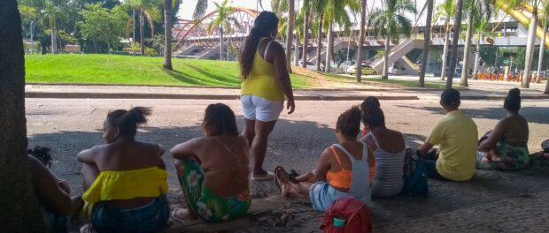 Moradores de ocupação que pegou fogo em Santa Cruz só receberam aluguel social de janeiro. Foto: Jaqueline Suarez