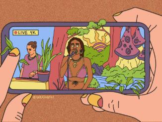 Arte original por Yara Santos