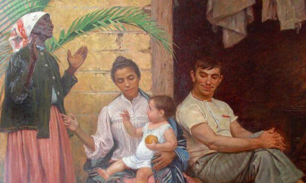 'A redenção de Cam', de Modesto Brocos, é uma representação das teses de embranquecimento da população. Foto: Divulgação/MNBA