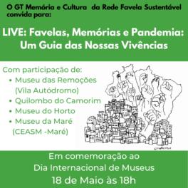LIVE Favelas, memórias e pandemia um guia das nossas vivências