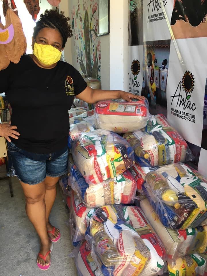 Ação organizada pela Associação Mulheres de Atitude e Compromisso Social (AMAC). Foto: AMAC