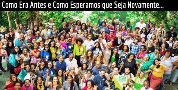 Foto de evento presencial antes da pandemia de organizações e movimentos de favela organizados em rede e facilitados pela ComCat