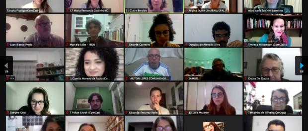Participantes do primeiro dia do Seminário Nacional do Termo Territorial Coletivo. Print do Zoom
