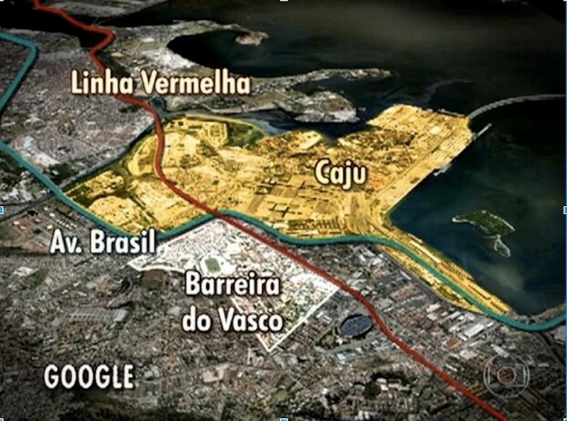 Mapa do Complexo do Caju