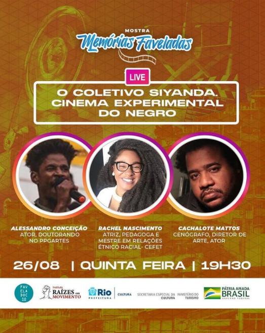 Divulgação da Live 'O Coletivo Siyanda: Cinema Experimental do Negro'